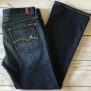 """7 FOR ALL MANKIND boot cut JEANS 30 (33""""x28 1/2"""")"""
